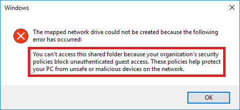 can not access shared folder
